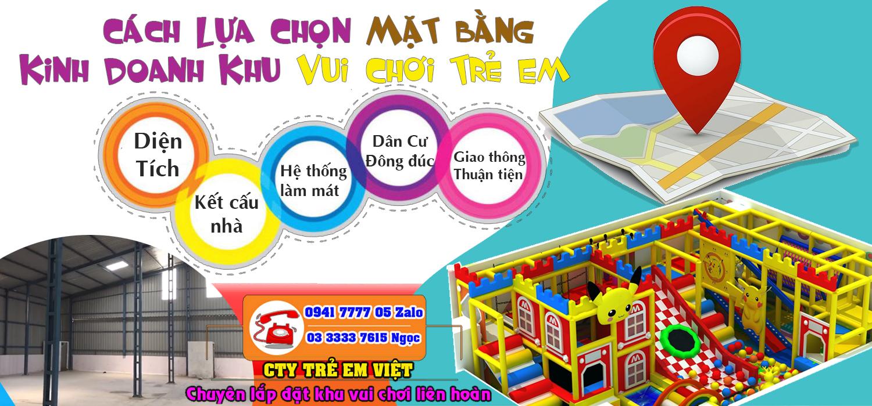 Những lưu ý khi mở khu vui chơi trẻ em