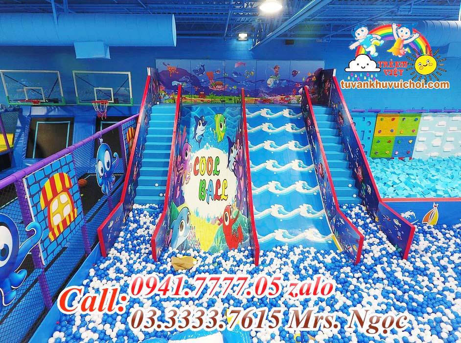 Cầu trượt mới nhất ở khu vui chơi trẻ em